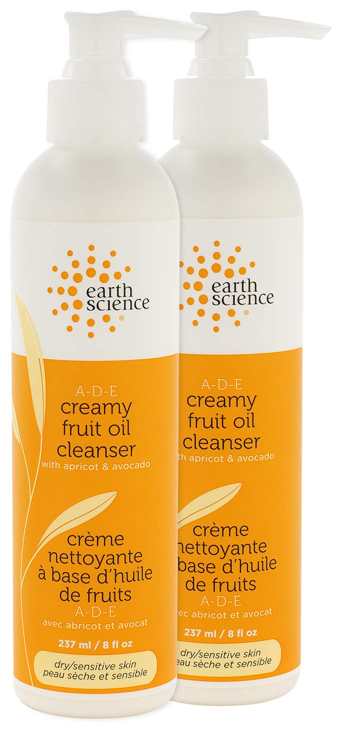 EARTH SCIENCE - A-D-E Creamy Fruit Oil Face Cleanser For Dry, Normal, or Sensitive Skin (2pk, 8oz.)