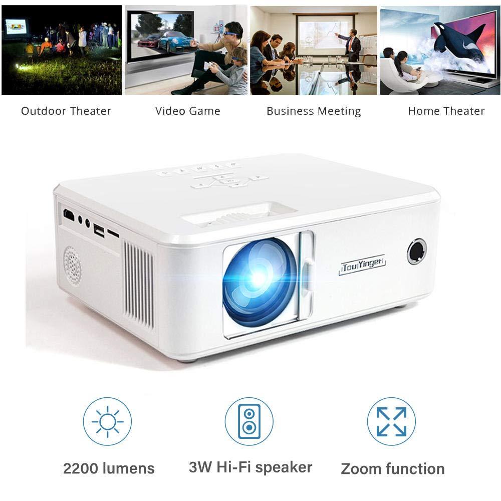 Proyector Twinyuan Mini Proyector Video portátil Home Cinema con ...