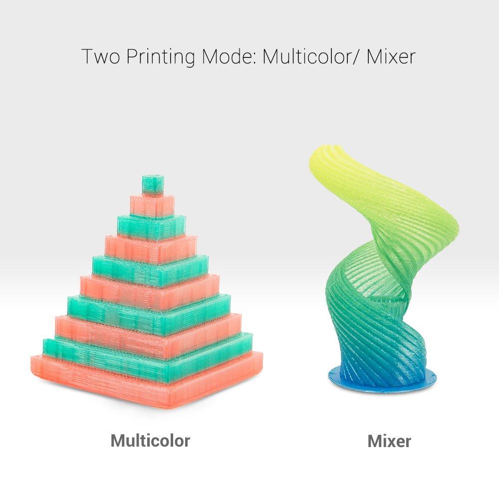 XYZ Printing da Vinci Jr Wireless FREE for: /£24 600g PLA filament modelling software /£15 maintenance tools 2.0 Mix 3D printer 15x15x15cm Built Vol. Dual-feeding and video tutorials