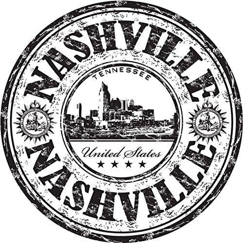 "Nashville Sticker Vinyl 10 cm 4/"" Decal Stamp United States USA Car Laptop Wall"