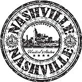 Nashville City Tennessee USA United States Travel Grunge Stamp Sticker Decal Design 5'' X 5''