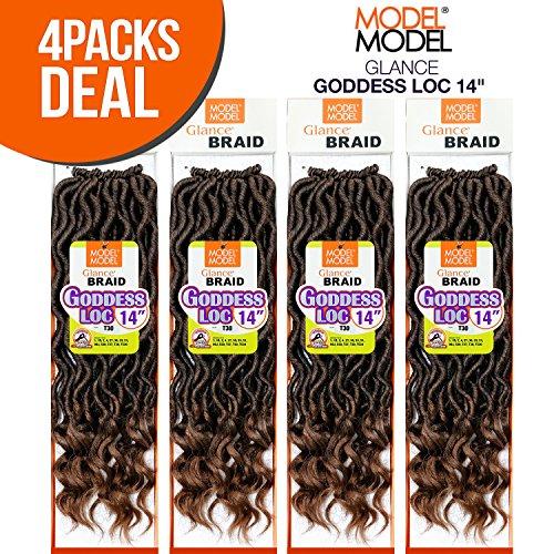 MULTI PACK DEALS! Model Model Synthetic Hair Crochet Braids Glance Goddess Loc 14