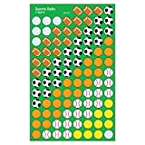 Trend Enterprises Sports Balls Super Shapes Stickers (800 Piece)