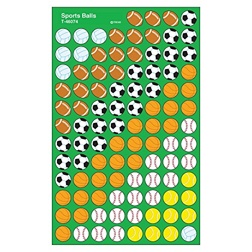 TREND enterprises, Inc. Sports Balls superShapes Stickers, 800 - Incentive Chart Sports