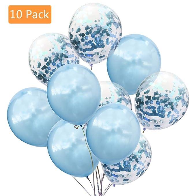 520bd5afa37db8 Willsm Confetti Balloon Party Balloons for Wedding Baby Bridal Shower  Decoration-Blue