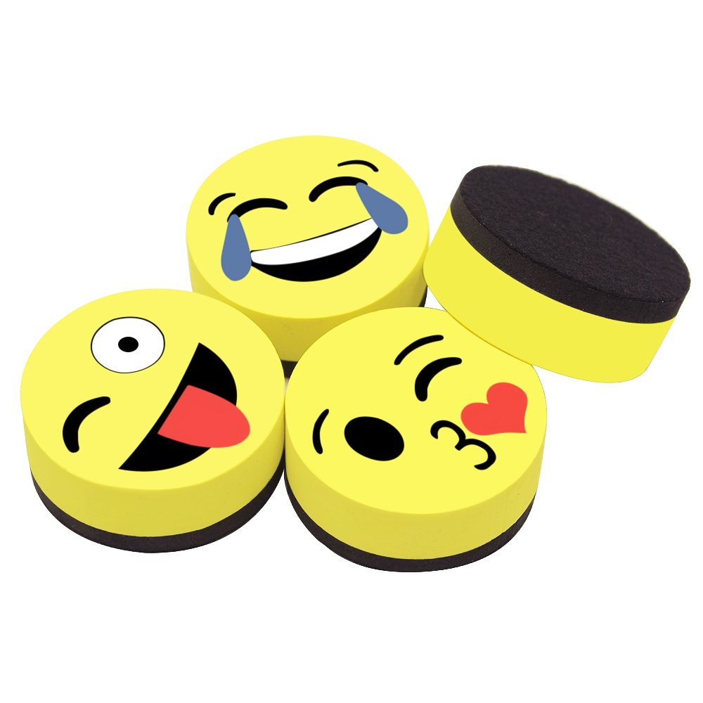 insegnanti ufficio scuola casa rotonde perfette per bambini Meetory cancellabili a secco magnetiche Confezione da 8 gomme per lavagna bianca