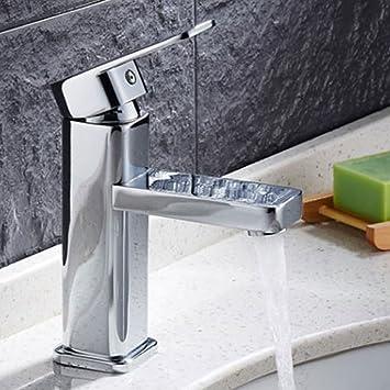 Washbasin Mixer Tap Wasserhahn Verschiedene Modelle Badezimmer Tap Waschbecken Armatur Bad Verchromtes Messing Waschtischarmatur in Silber