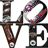 Philadelphia Sports LOVE 2 Canvas Art (12X12)