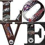 Philadelphia Sports LOVE 2 Canvas Art (30X30)