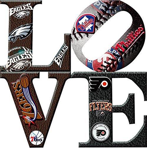 Philadelphia Sports LOVE 2 Canvas Art (12X12) (Amaze Art Gallery)