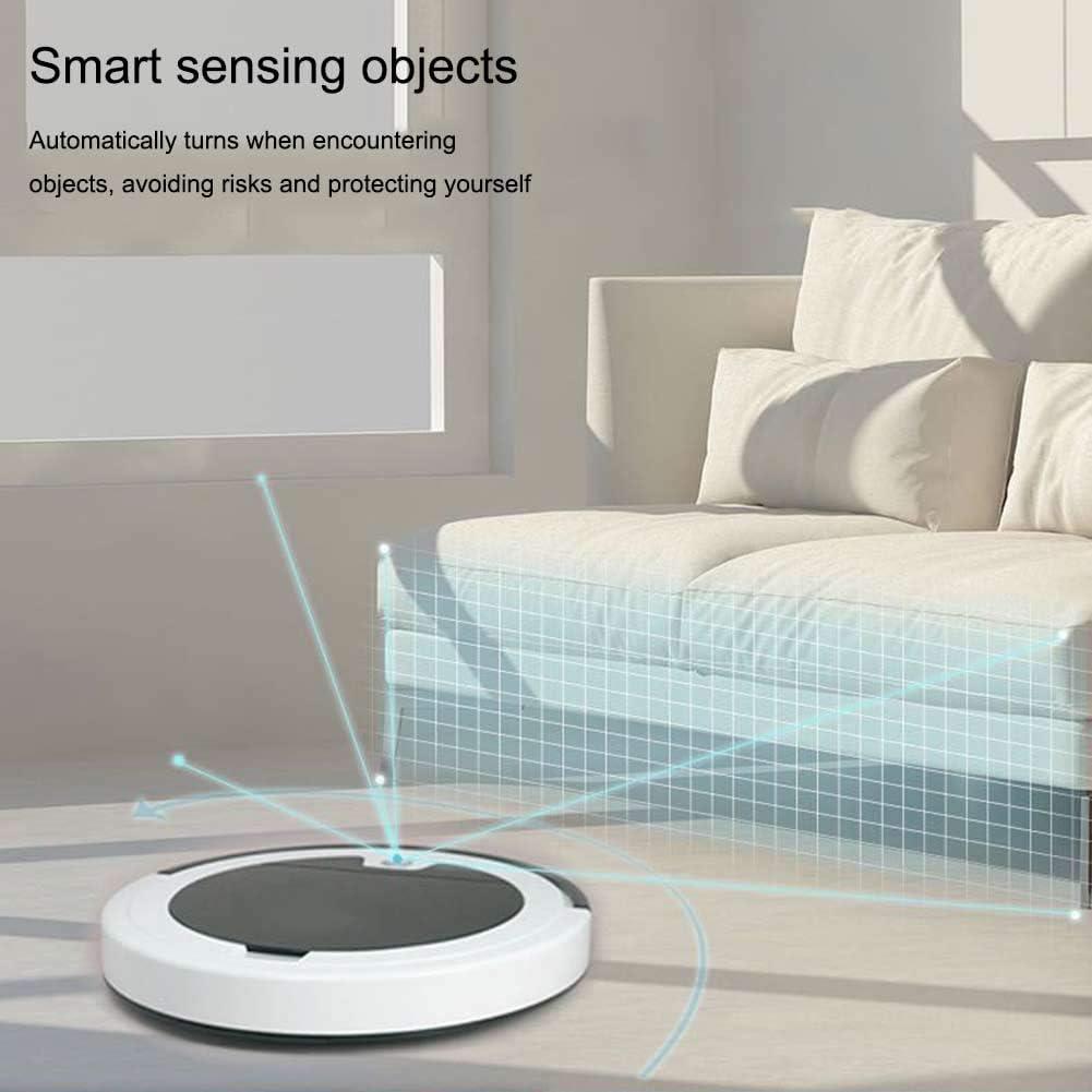 SILENTLY Aspirateur Robot Intelligent, Intelligent Induction / 40Db Mute Conception / 2,4M Télécommande sans Fil Aspirateur,C C