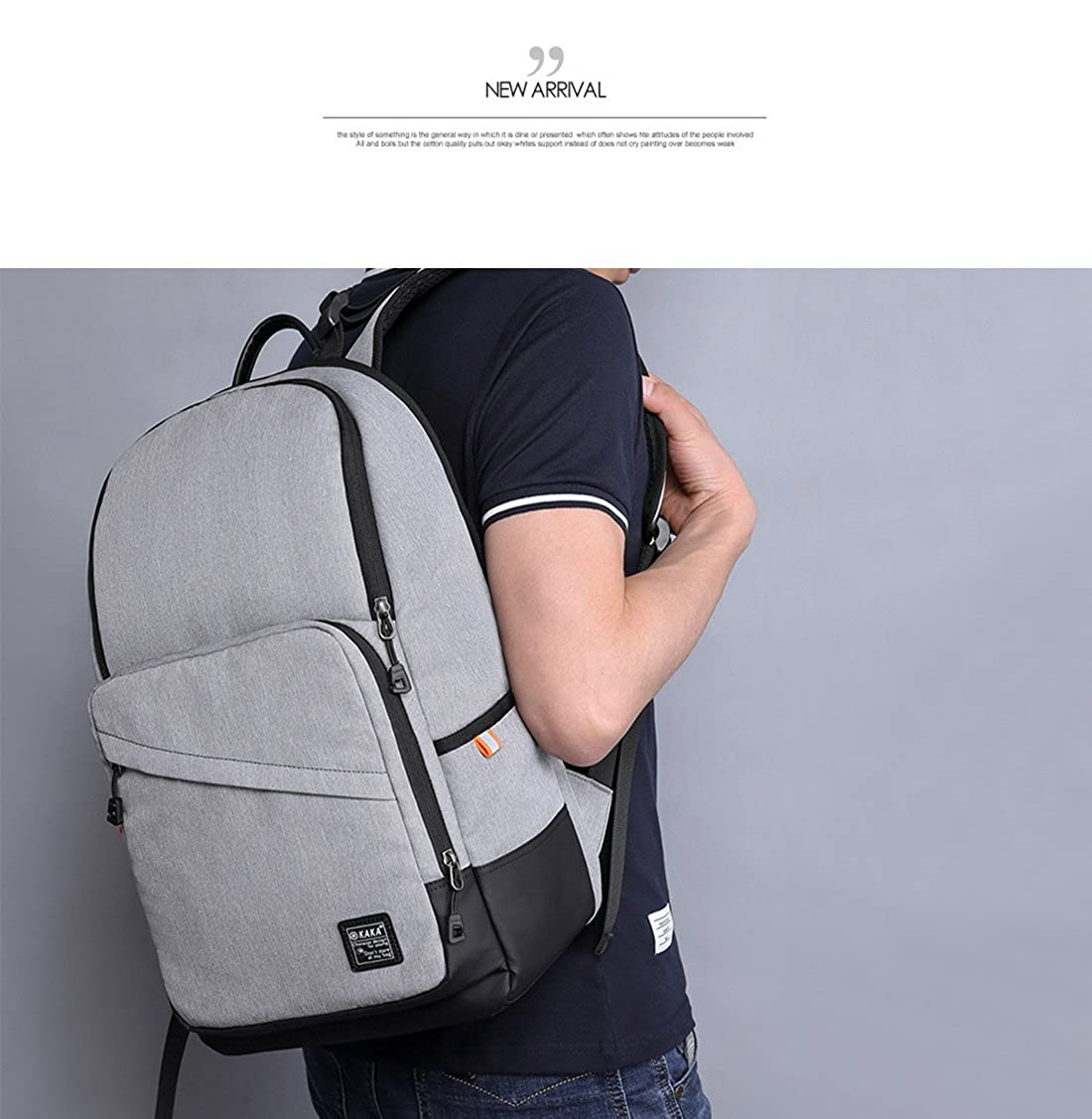 9bb3cd1dcc3e Amazon | FANDARE ファッションカジュアルバックパック15.6インチPCショルダーバッグリュックサック旅行ハイキングデイパック通学通勤鞄学生ラップトップタブレット多  ...