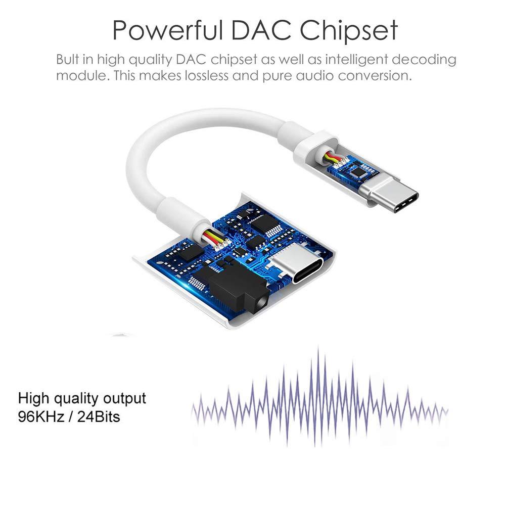 Aux USB Tipo C Audio Adaptador Huawei P20//P20 Pro//P30 ProMate 10 Pro Xiaomi Mi 9//Mi 8//8 Lite//MI A2 AD ADTRIP USB C Audio Adaptador Tipo C Auriculares Compatible con Google Pixel 2//2XL//3
