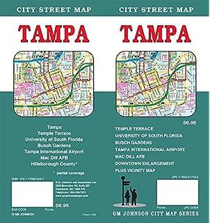 Map Of Tampa Florida Area.American Map Tampa Hillsborough County Florida Pocket Map American