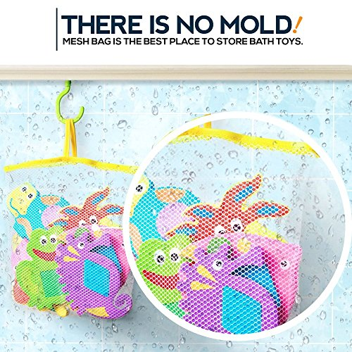 Educational Bath Toys Boys Girls - Early Learning Bath Toys - Foam Bath Toys Puzzles Animals - Fun Floating Educational Toys For Toddlers Kids - Bathtub Storage Mesh Bag-Fishing Rod Puzzle and Animal by BABY LOOVI (Image #2)
