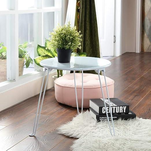 Mesa lateral redonda, Mesitas pequeñas, Mesitas laterales de sofá ...
