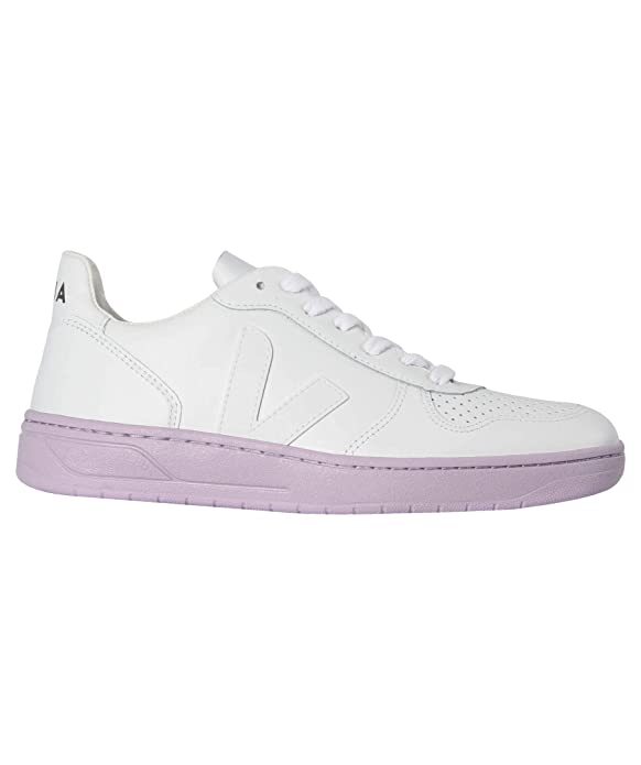 42cb5bce85fa3 VEJA V-10 Leather Extra White Lila Sole - Baskets Femme  Amazon.fr   Chaussures et Sacs