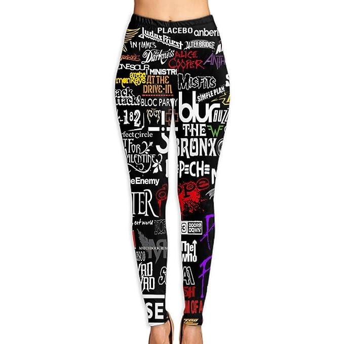 Amazon.com: efyh Printed Long Women Yoga Leggings Tummy ...
