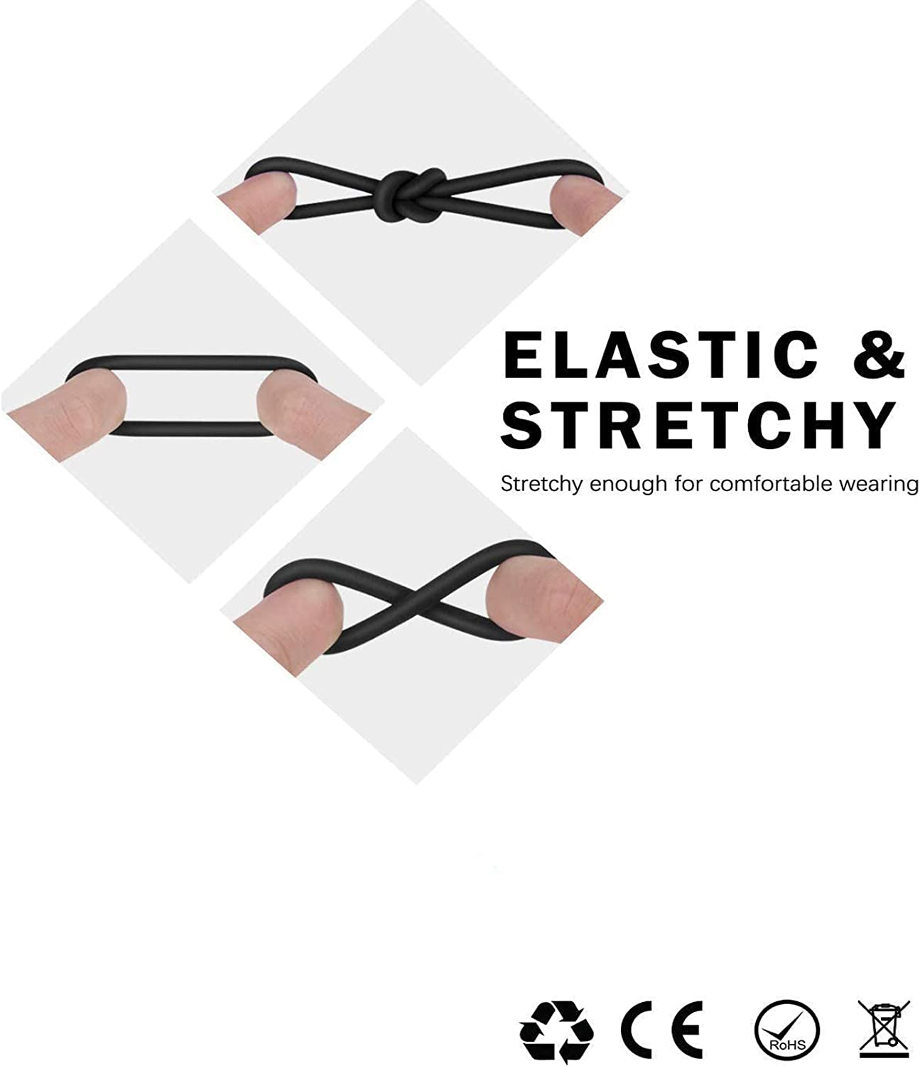 CXue-Super Soft and Stretchy Triple Ring Wand Enhancer Massager for Men Patrol of Satisfaction