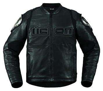 Icon Timax - Chaqueta para motocicleta, color negro: Amazon.es: Coche y moto