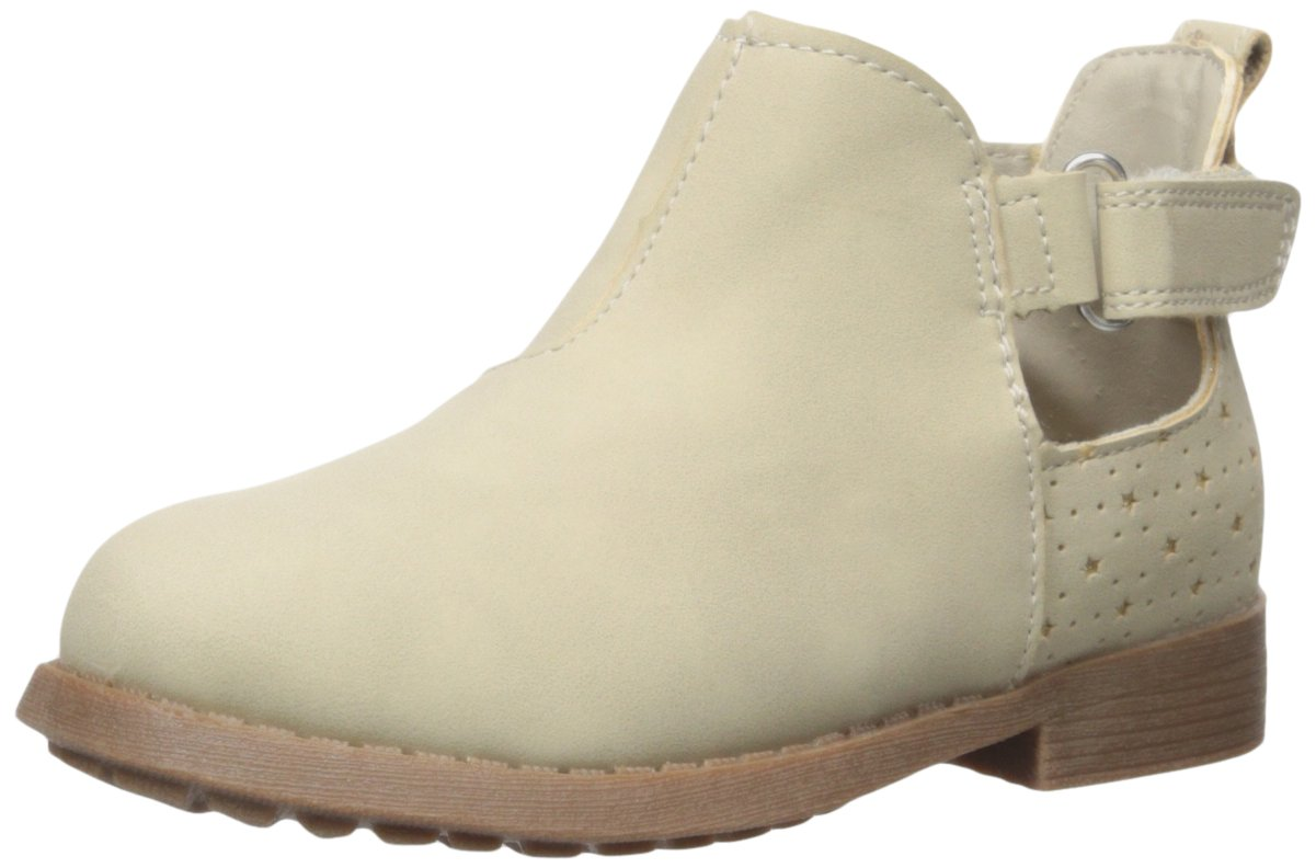 OshKosh B'Gosh Girls' Tempy Cut Bootie Ankle Boot, Taupe, 9 M US Toddler