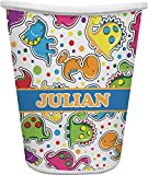 RNK Shops Dinosaur Print Waste Basket - Single Sided (White) (Personalized)