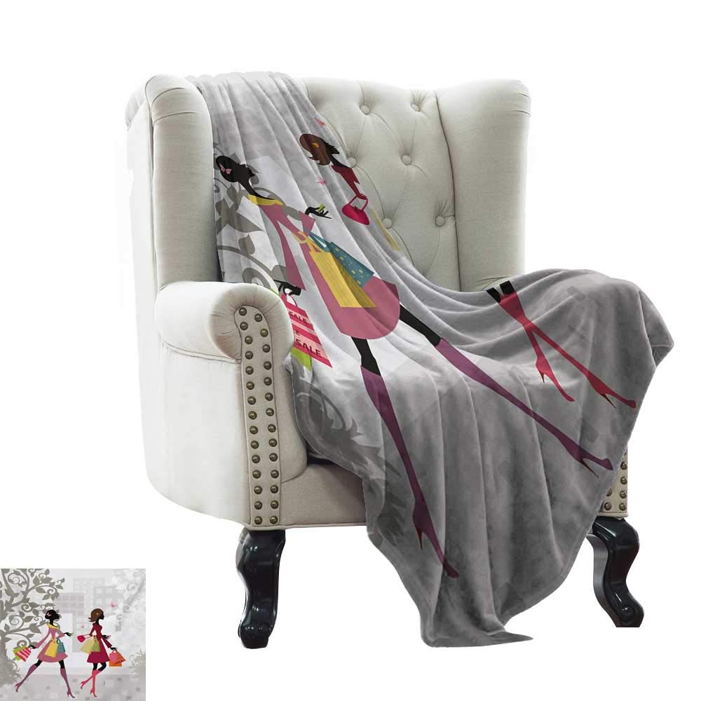 color02 50 x60  Inch BelleAckerman cat Blanket Teen Room,Young Girl in Paris Streets with Bicycle French Style Display,Chestnut and Pale Brown Pearl Flannel Blankets Made with Plush Microfiber 50 x60