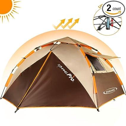 e0c7bff3d99 Amazon.com   ZOMAKE Camping Tent 3 4 Person - Protable Dome Quick Up Tent