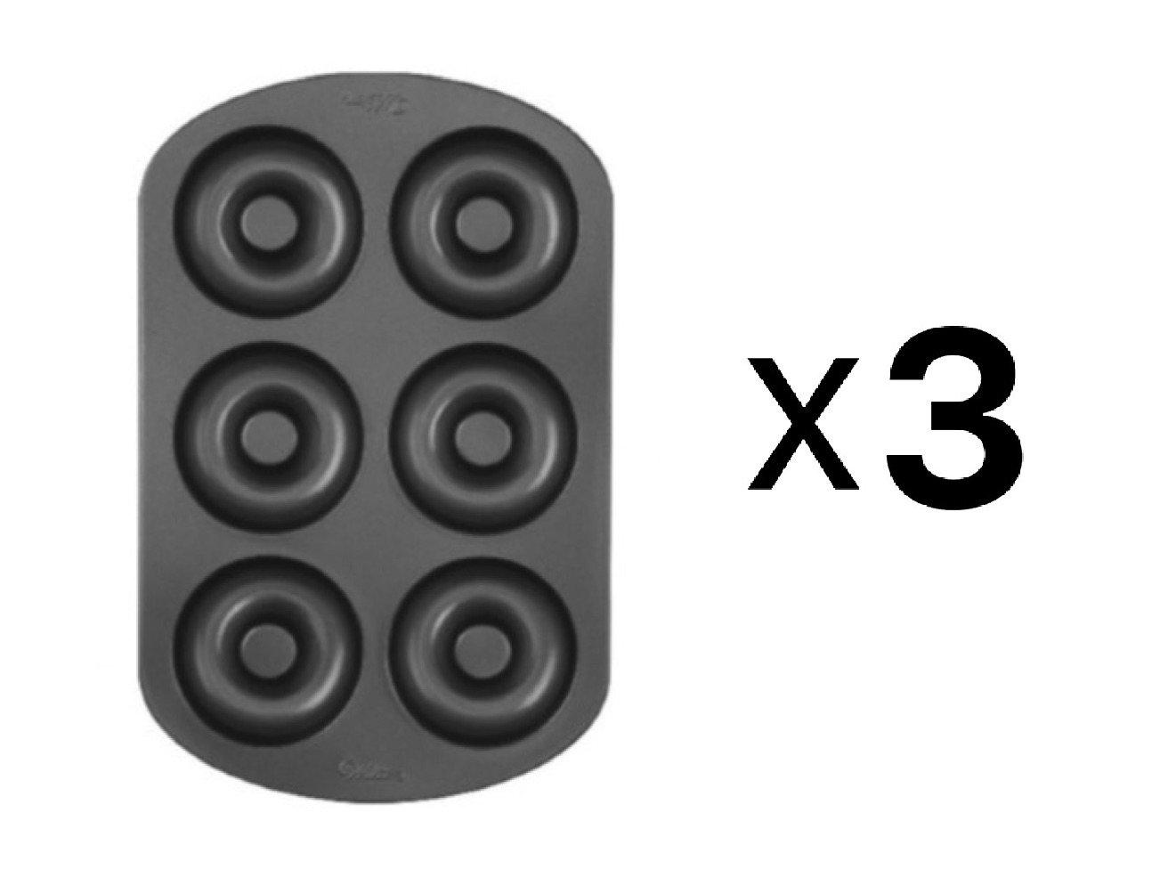 Wilton Nonstick 6-Cavity Donut Pan (3 Pack)