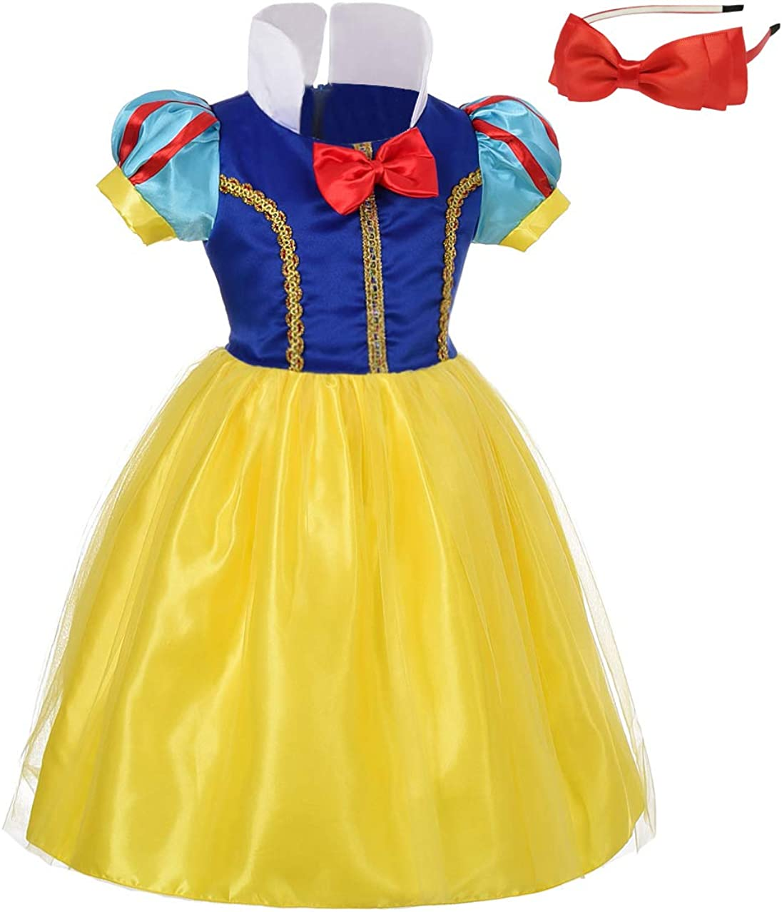 Lito Angels Girls Princess Costume Fancy Dresses Up Halloween Outfit with Headband