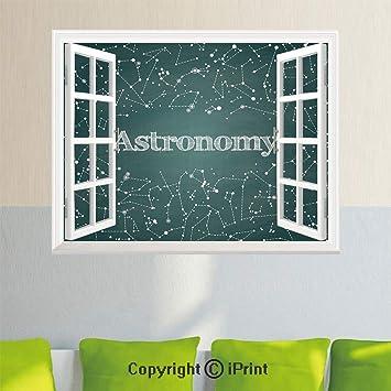 Amazon.com: Adhesivo de pared extraíble para ventana, diseño ...