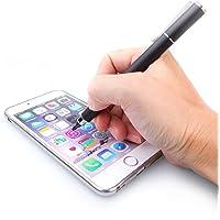 Acase艾克司 主动式细头2.0mm电容笔 苹果iPad平板绘画触控绘画手写笔 (台湾制造) (两用电容笔黑色)