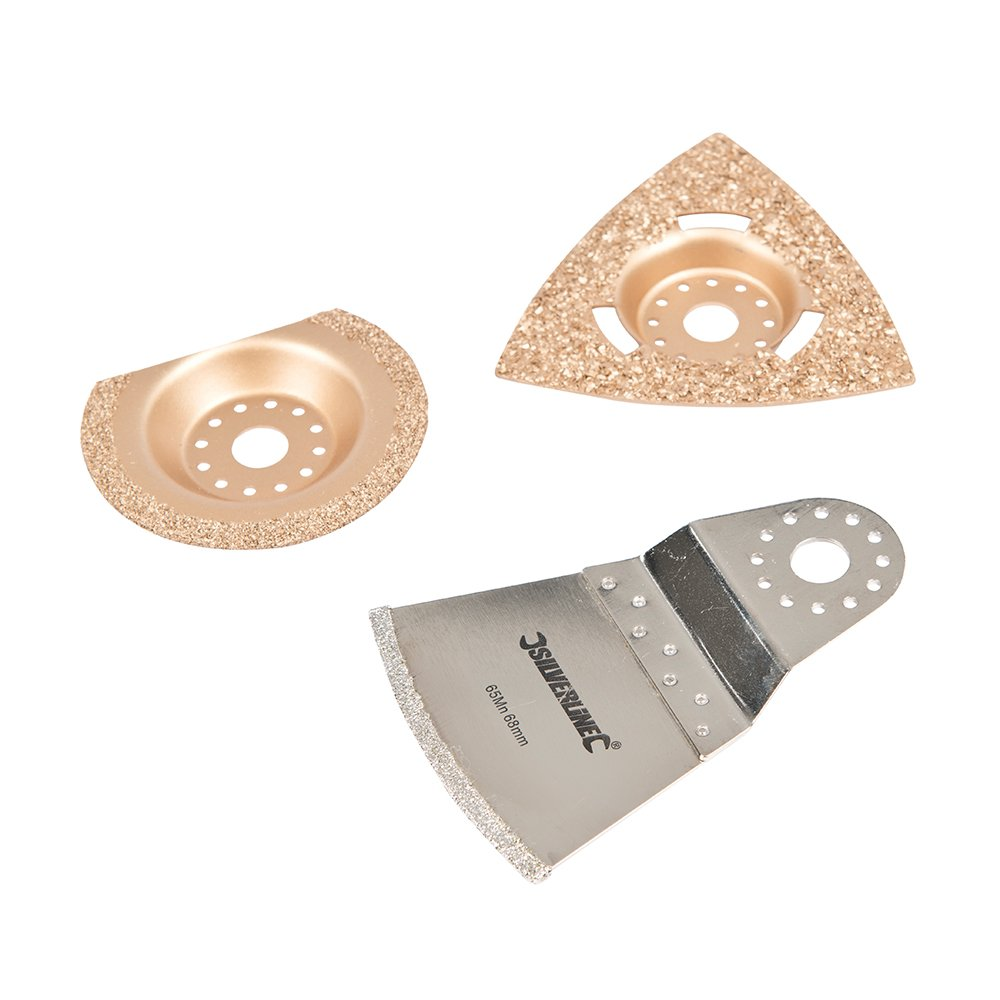 Silverline 883367 Kit de 3 accessoires de coupe travail intensif