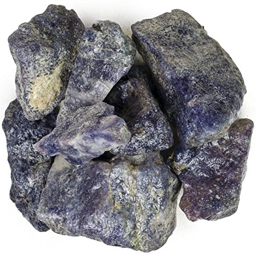 Hypnotic Gems Materials: 1 lb Bulk Rough Iolite Stones from India - Raw Natural Crystals for Cabbing, Tumbling, Lapidary, Polishing, Wire Wrapping, Wicca & Reiki Crystal - Iolite Gemstone