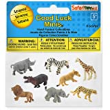 Safari Ltd. Good Luck Minis Fun Pack - Savanna - 8 Pieces - Phthalate, Lead and BPA Free - For Ages 5+