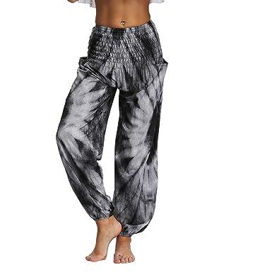 DONTAL - Pantalón de Yoga para Mujer, Holgado, Holgado, Boho ...