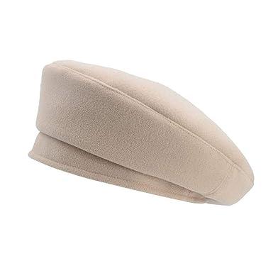 Beret Flat Cap Cr Wool Vintage Painter Cap Gorras Planas New,Beige