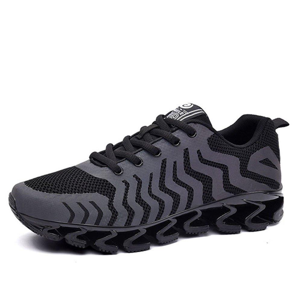 CAI Paar-Nettogarn-Turnschuhe 2018 Frühlings-   Sommer-     Fall-Männer Frauen Sport-Elastizitäts-Schuhe Absorbtions-Sport-laufende Schuhe (Farbe   Schwarz, Größe   42) 8e5eb7