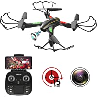 Jowhan WiFi FPV RC Quadcopter Drone with RTF 4 Channel 2.4GHz 6-Gyro Wide-Angle HD Camera Live Video