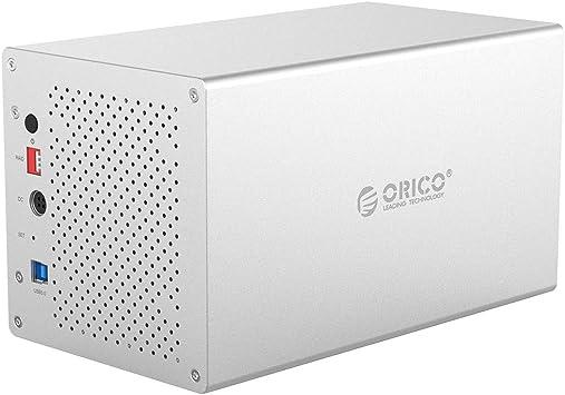 Orico - Unidad de disco duro externa de 4 bahías de aluminio con ...