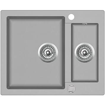 Spüle Granit Verbundspüle Küchen Einbauspüle Auflage 610 x 495 mm ...