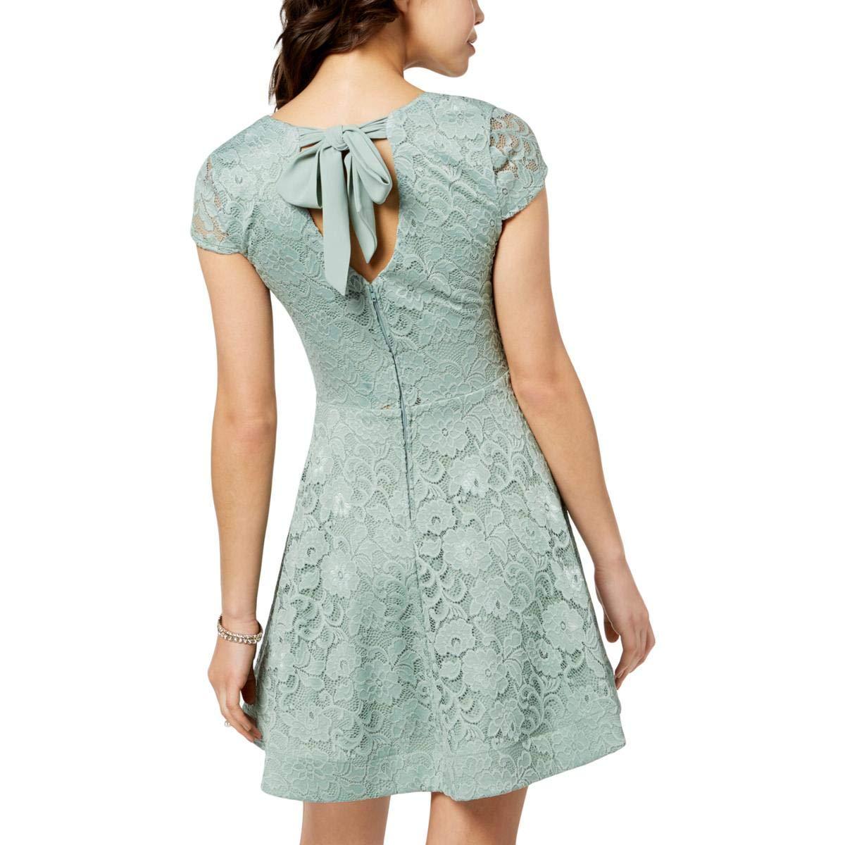 b178ec6533c429 Amazon.com: B. Darlin Womens Juniors Lace Fit & Flare Casual Dress: Clothing