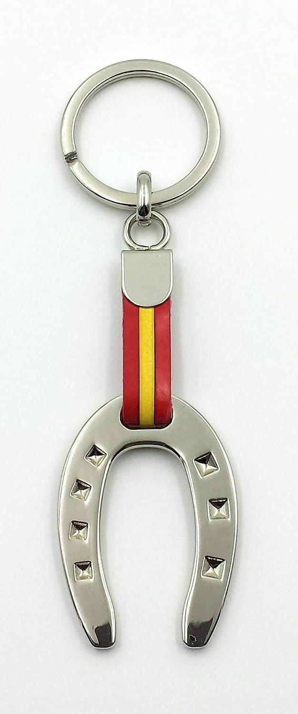 FJR-ArtPiel - Llavero bandera de España herradura de la suerte ...