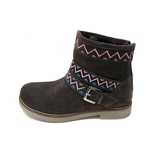MTNG Nina, Botines Infantil, Gris (Suede Gris Oscuro), 38 EU: Amazon.es: Zapatos y complementos