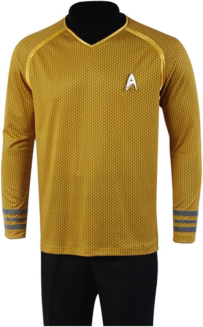 Star Trek Kirk Weste T Shirt Kapitän Uniform Cosplay Karneval