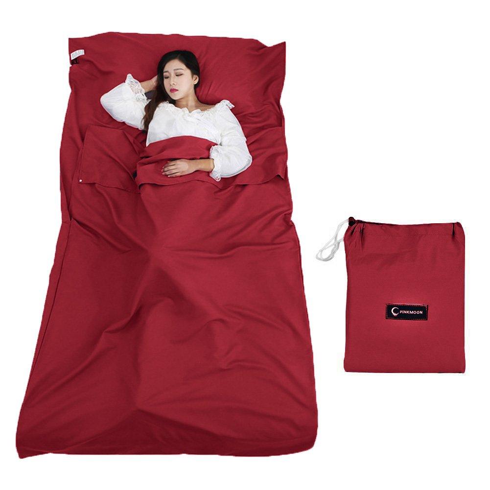 Queta Sleeping Bag Liner, Camping Sheet Sleeping Bag Liner Travel Sheet Liner with Carrying Bag Lightweight for Hotels Mountain Camping Outdoor Activities