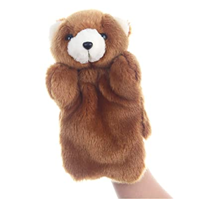 1pc Soft Plush Hand Puppet Zoo Friends Animals Bear Doll Educational Puppets Bear Cute Christmas Gift for Adults and Kids: Toys & Games