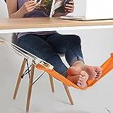 Rock Dan ハンモック式 フットレスト 木造 足置き 自宅 取付簡単 足らくらく トラベルグッズ 足休め 足乗せ デスク オフィス かばん置き 部屋便利 グッズ オレンジ