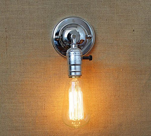 Kiven Industrial Chrome Wall Sconces Light Fixture Home Decoration Iron Wall  Lighting