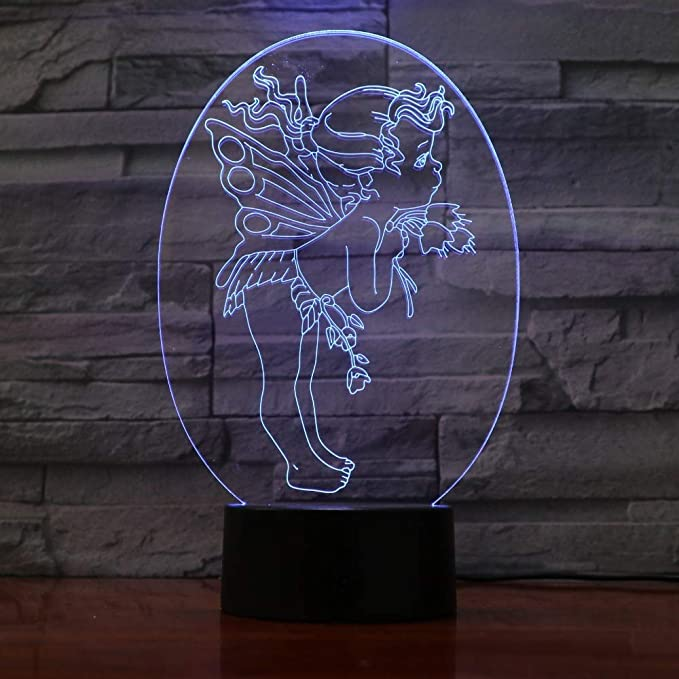 wangZJ Lámpara de ilusión de luz nocturna 3d / Lámpara de ...